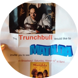 Matilda on Broadway and Trunchbull Christmas Gift