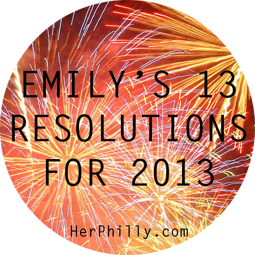 2013 new year's resolutions philadelphia