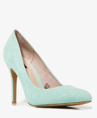 Forever 21+ Sweet in Sherbet Wishlist Faux Suede Pumps