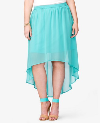 Forever 21+ Sweet in Sherbet Wishlist High-Low Skirt