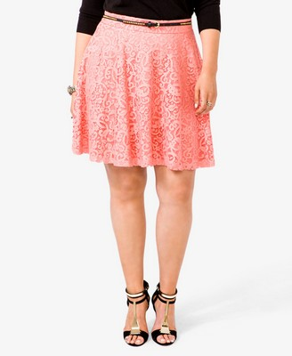 Forever 21+ Sweet in Sherbet Wishlist A-Line Lace Skirt