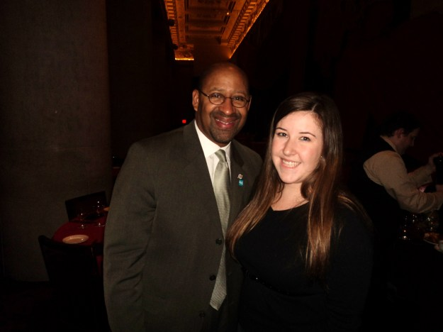 Emily Tharp of Her Philly meets Mayor Michael Nutter