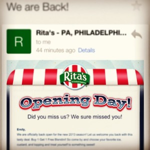 Rita's Philadelphia is Open via Her Philly