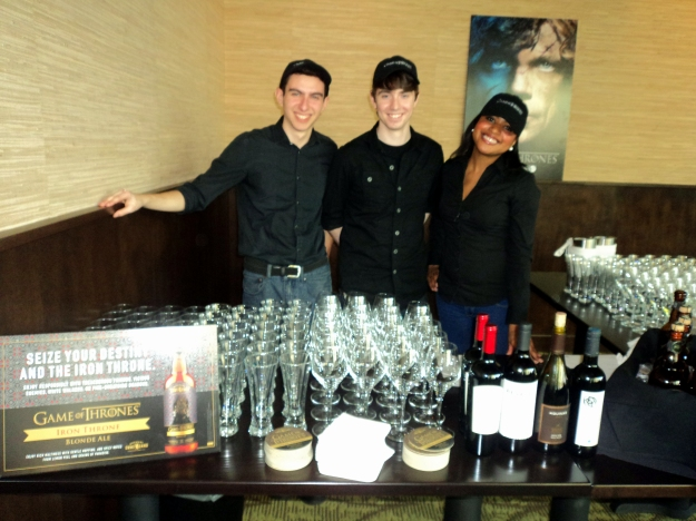 Bar staff at Harvest Seasonal Grill & Wine Bar during the HBO Game of Thrones #WesterosVIP event in Philadelphia / Her Philly
