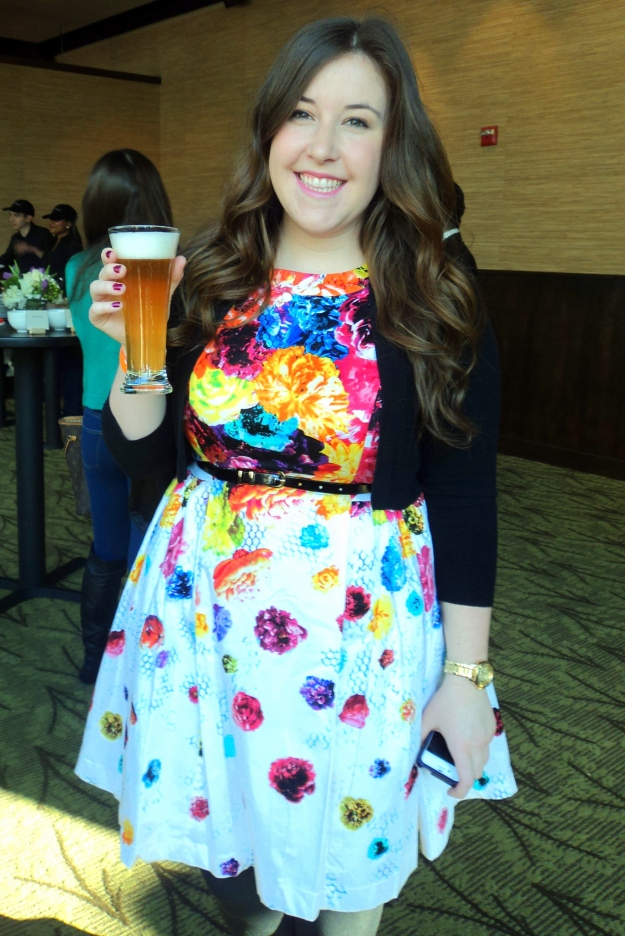 Emily Tharp from Her Philly sampling Brewery Ommegang's Iron Throne Blonde Ale during the HBO Game of Thrones #WesterosVIP Season 3 Premiere! / Her Philly