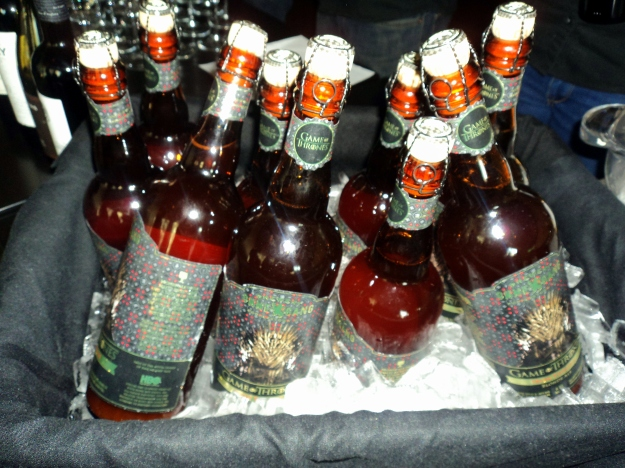 Bottles of Brewery Ommegang's Iron Throne Blonde Ale during the HBO Game of Thrones #WesterosVIP Season 3 Premiere! / Her Philly