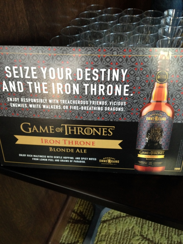 Sampling Brewery Ommegang's Iron Throne Blonde Ale during the HBO Game of Thrones #WesterosVIP Season 3 Premiere! / Her Philly