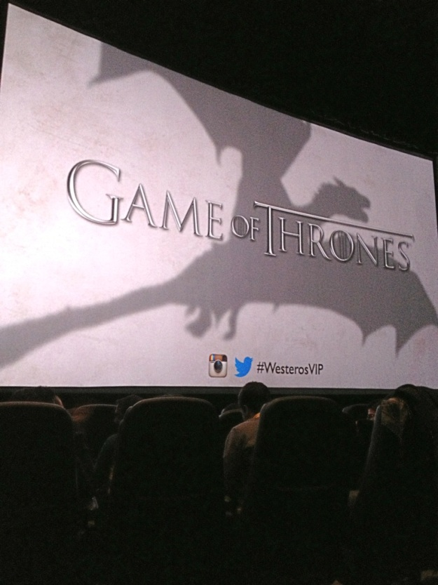 Getting ready to watch the Season 3 Premiere before the Season 3 Premiere during the HBO Game of Thrones #WesterosVIP event in Philadelphia / Her Philly