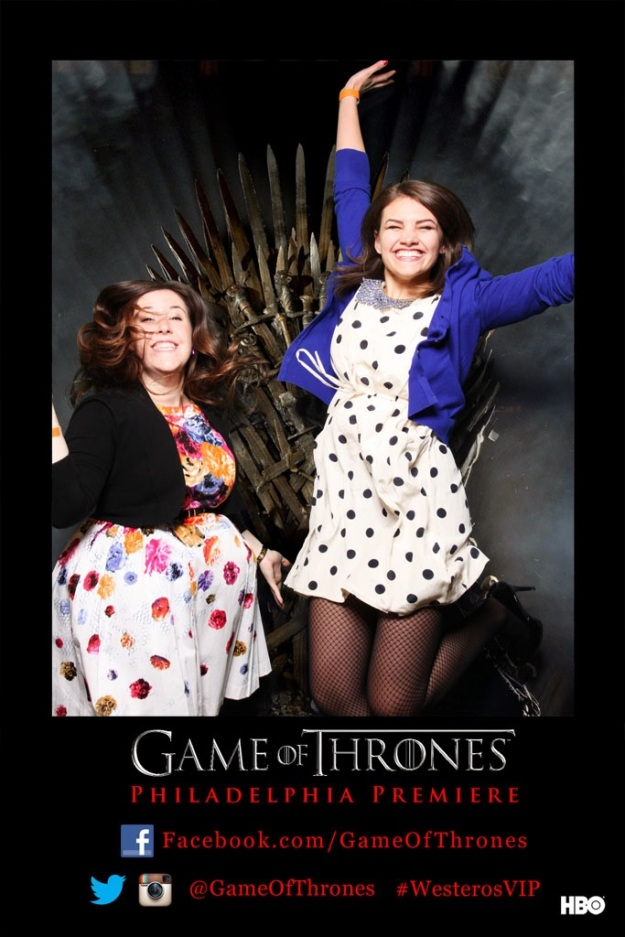 Taking photos in the Iron Throne photobooth during the HBO Game of Thrones #WesterosVIP event in Philadelphia / Her Philly