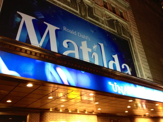 Matilda on Broadway at the Shubert Theatre
