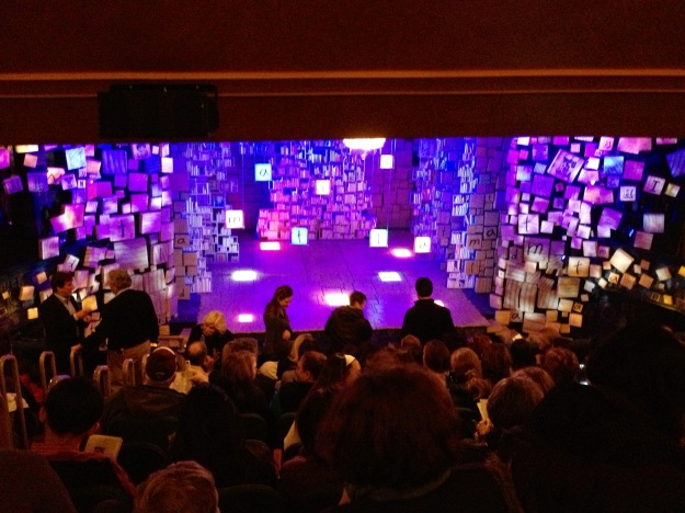 Stage for Matilda on Broadway at the Shubert Theatre