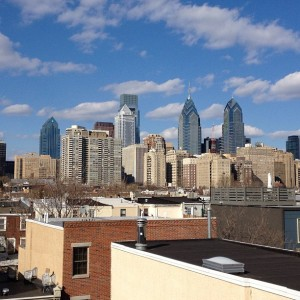 Beautiful Philly skyline from roof deck / Her Philly